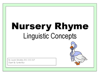 Nursery Rhyme Themed Spatial/Locational Concepts Book