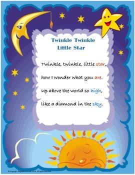 """Nursery Rhyme """" Twinkle Twinkle Little Star"""""""