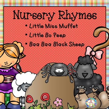 Nursery Rhyme Literacy and Math Centers & Worksheets PK/K