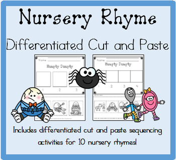 Nursery Rhymes Differentiated Cut and Paste Activities