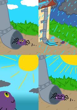 Nursery Rhymes Flashcards -The Itsy Bitsy Spider-