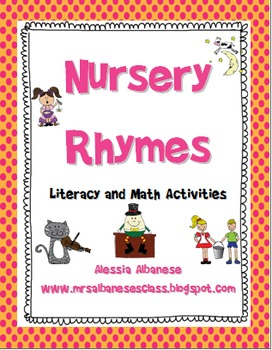 Nursery Rhymes Literacy and Math Centers