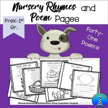 Nursery Rhymes & Poems for Primary Students (Ink Friendly)