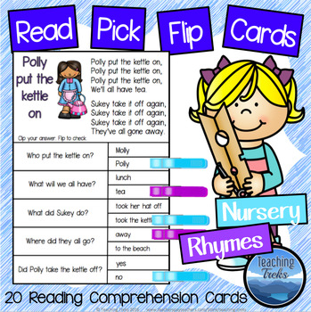 Nursery Rhymes Reading Comprehension Passages Clothespin A