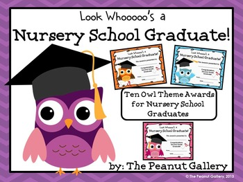 Nursery School Graduation Certificates (Owl Theme)