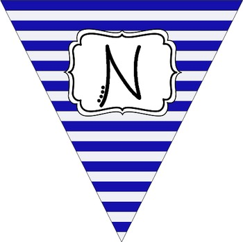"""""""Nurse's Office"""" Blue and White Pennant Banner"""