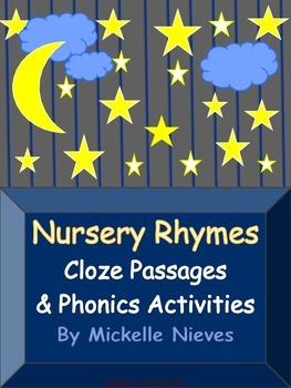 Nursey Rhymes: Cloze Passages & Phonics Activities (Common