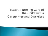 Nursing Care of the Child with GI Disorder