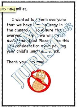 Nut Allergy Note