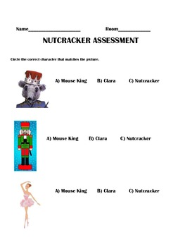 Nutcarcker Character and Listening Assessment