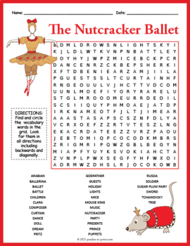 The Nutcracker Ballet Word Search Puzzle