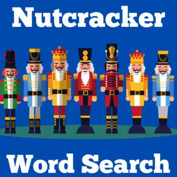 Nutcracker Activity | Nutcracker Word Search | Christmas N