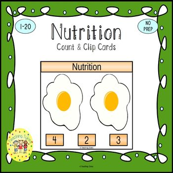 Nutrition Count and Clip Task Cards