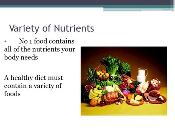 Nutrition - Essential Nutrients w/worksheet (SMART BOARD)