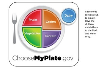 Nutrition Fruit and Veggie Plate Matching activity for pre