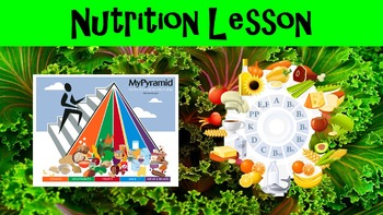 Nutrition No Prep Lesson w/ Power Point, Worksheet, and Nu