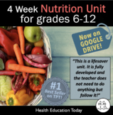 Health Unit: Nutrition: Get 3-4 Weeks of Daily Plans in my