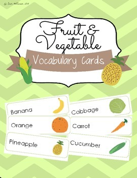 Nutrition Vocabulary Cards and Spelling Practice - Fruits