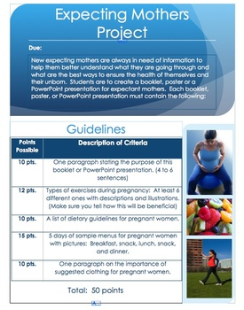 Nutrition and exercise project