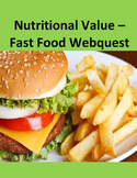 Nutritional Value - Fast Food Webquest