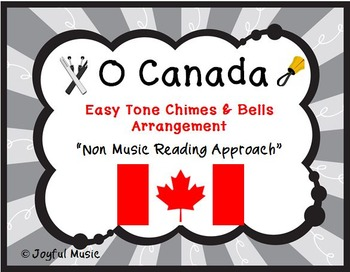 O CANADA Easy Tone Chimes & Bells Arrangement