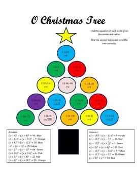 O Christmas Tree - Equations of Circles
