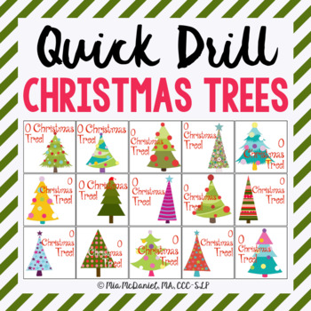 O Christmas Tree Quick Drill {for articulation or fluency