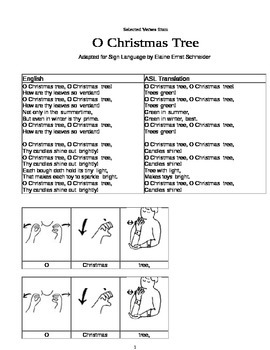 O Christmas Tree in Sign Language
