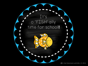 """O'FISH""""ALLY a New School Year!"""