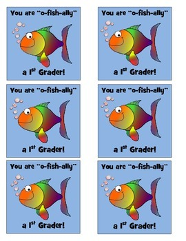 """O-Fish""ally in 1st Grade Labels"
