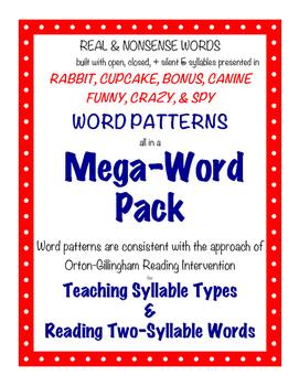 O-G Resource: MEGA-WORD Pack, with MEGA-PATTERNS for Readi