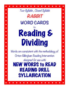 O-G Resource: RABBIT Word Cards for Blending, Reading, & Dividing