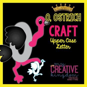 O - Ostrich Upper Case Alphabet Letter Craft