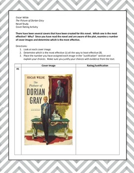 O. Wilde's The Picture of Dorian Gray - Alt. Assessment or