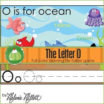 O is for Ocean File Folder Game