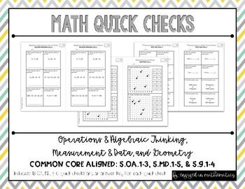 OA, MD, & Geometry Quick Checks (5th Grade Common Core Ali
