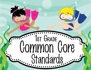 """OCEAN - 1st Grade Common Core Standards """"I CAN"""" format / posters"""