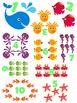 OCEAN Animal File Folder Game Numbers 1-10