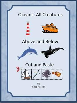 Ocean Animals Kindergarten Math & Literacy Centers Cut & P