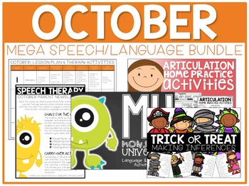 OCTOBER: Speech/Language Bundle