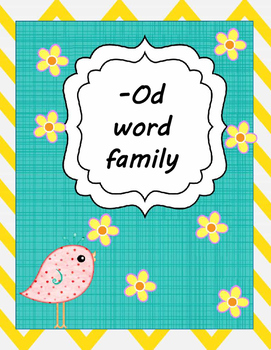 OD WORD FAMILY