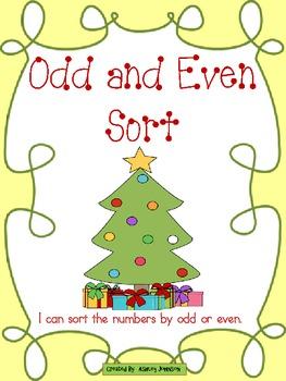 ODD and Even Sort Christmas themed
