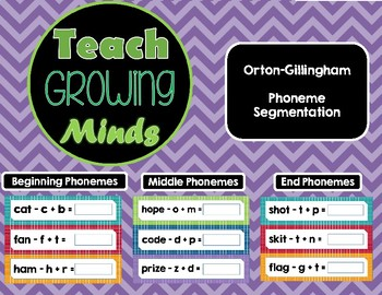 OG Phoneme manipulation and segmentation cards