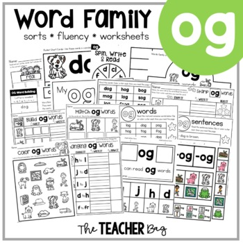 OG Word Family Activities