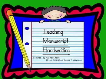 OGYouKnow Manuscript Handwriting Orton- Gillingham Based P