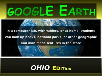 """""""OHIO"""" GOOGLE EARTH Engaging Geography Assignment (PPT & H"""