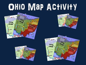 OHIO Map Activity- fun, engaging, follow-along PPT with bl