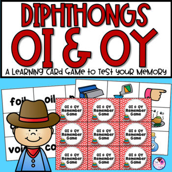 OI & OY Diphthong Memory Game