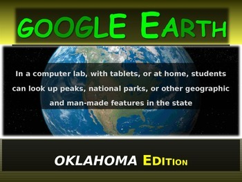 """""""OKLAHOMA"""" GOOGLE EARTH Engaging Geography Assignment (PPT"""