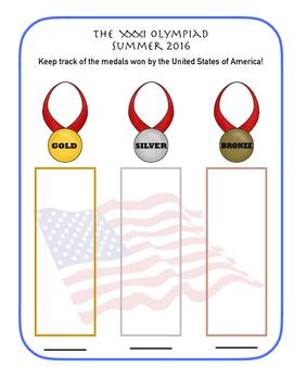 OLYMPICS MEDALS RECORD SHEET
